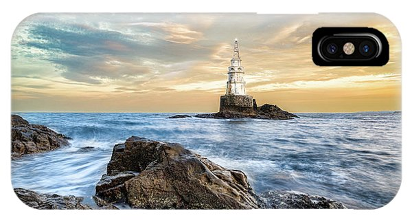 IPhone Case featuring the photograph Lighthouse In Ahtopol, Bulgaria by Milan Ljubisavljevic