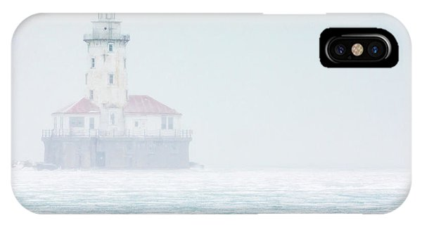 Lighthouse In The Mist IPhone Case