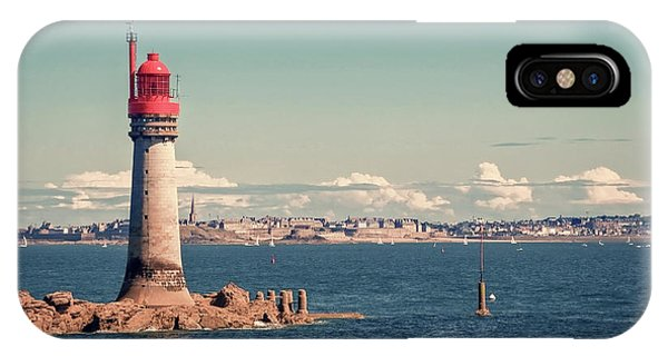 Lighthouse Wall Decor iPhone Case - Lighthouse Of Saint Malo by Delphimages Photo Creations