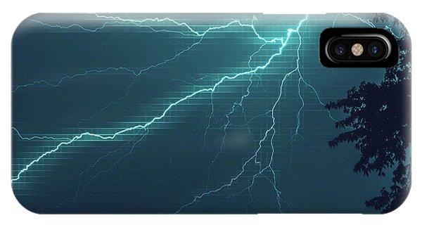 Lightning Grid IPhone Case