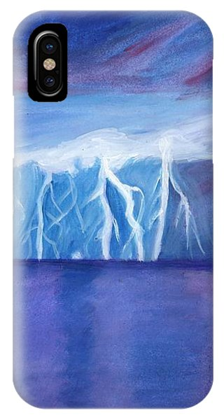 Lightning On The Sea At Night IPhone Case