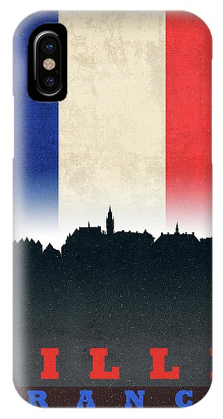 French iPhone Case - Lille France World City Flag Skyline by Design Turnpike