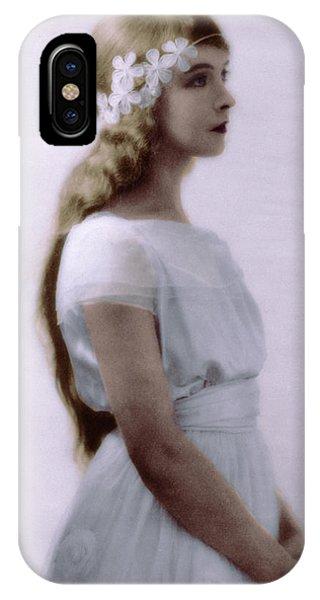 Lillian Gish Colorized IPhone Case