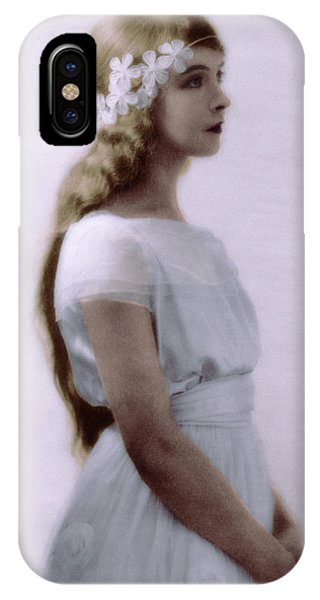 Lillian Gish Colorized IPhone Case