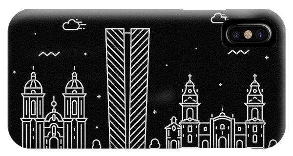 Peru iPhone Case - Lima Skyline Travel Poster by Inspirowl Design
