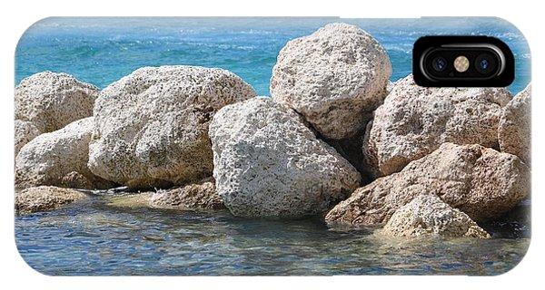 iPhone Case - Limestone Boulders In Bahamas Blue by Carol Groenen
