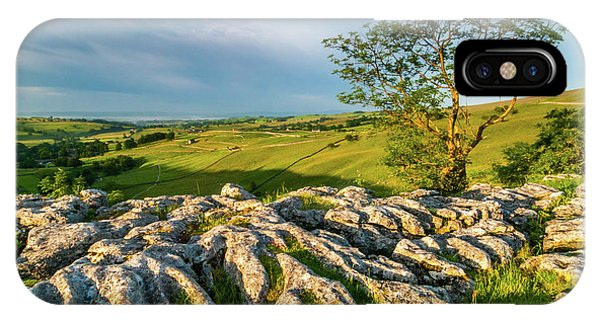 Limestone Pavement, Malham Cove Phone Case by David Ross