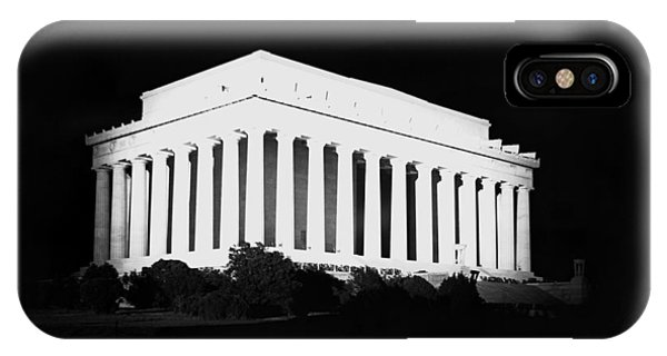 Lincoln Memorial iPhone Case - Lincoln Memorial At Night - Washington Dc - 1922 by War Is Hell Store