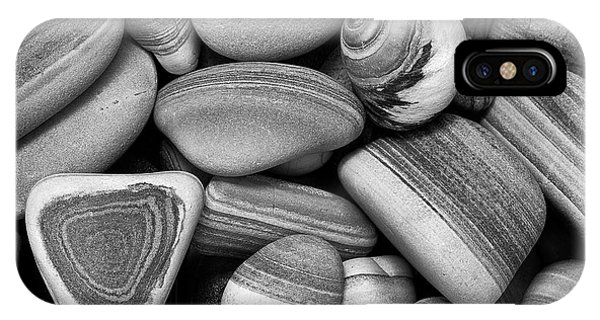 Lined Rocks And Shell IPhone Case