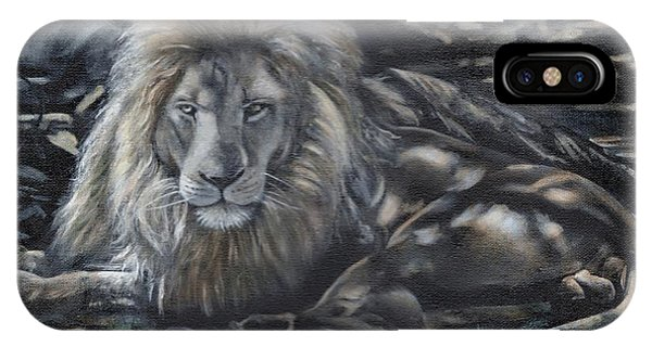 Lion In Dappled Shade IPhone Case