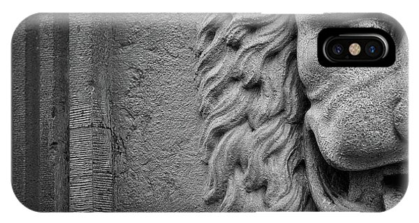 Lion Statue Portrait IPhone Case