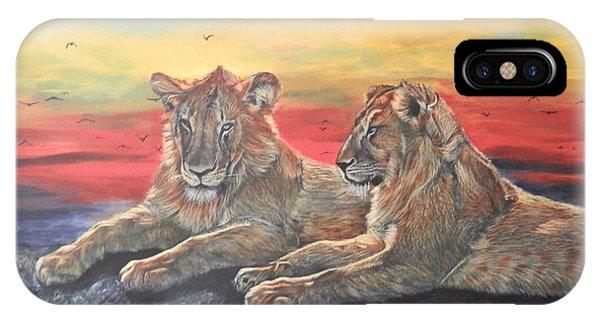Lion Sunset IPhone Case