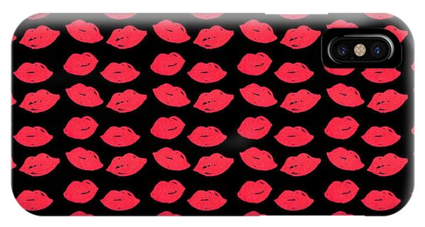 IPhone Case featuring the digital art Lips by Bee-Bee Deigner
