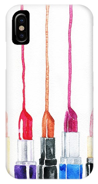Symbols iPhone Case - Lipsticks. Watercolor Illustration by Anna Ismagilova