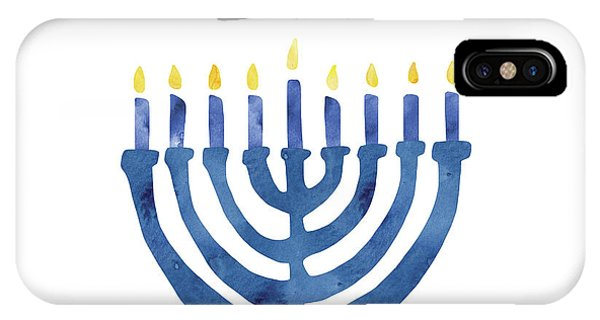 Jewish Humor iPhone Case - Lit Menorah- Art By Linda Woods by Linda Woods