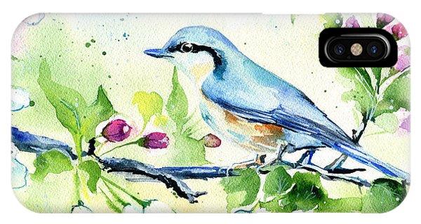 Little Blue Spring Bird IPhone Case