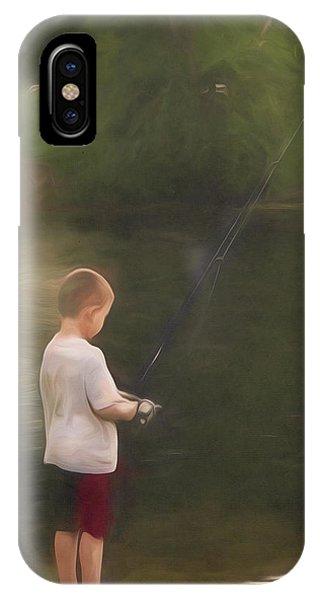 Little Boy Fishing IPhone Case