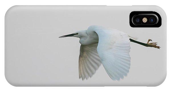 Little Egret Evening Flght IPhone Case