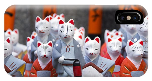 Small iPhone Case - Little Fox Statues At Fushimi Inari by Boocys