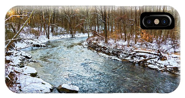 Kingsville iPhone Case - Little Gunpowder Falls Pano With Snow by Brian Wallace