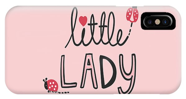 Little Lady - Baby Room Nursery Art Poster Print IPhone Case