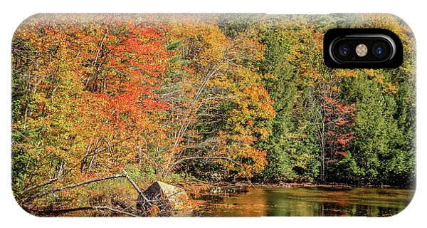 New England Fall Foliage iPhone Case - Little Pond Grafton New Hampshire by Edward Fielding