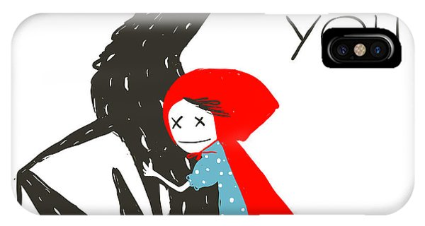 Fairytales iPhone Case - Little Red Riding Hood Loves Black by Popmarleo