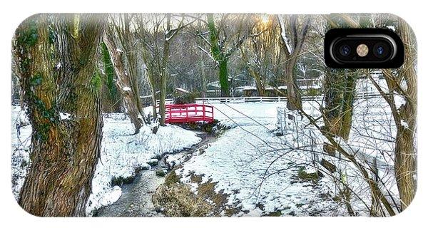 Kingsville iPhone Case - Little Red Walk Bridge by Brian Wallace