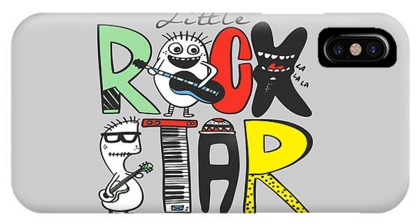 Little Rock Star - Baby Room Nursery Art Poster Print IPhone Case