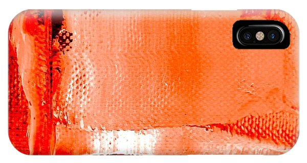 IPhone Case featuring the painting Living Coral Spectrum Abstract by VIVA Anderson