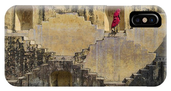 Old Building iPhone Case - Local Women Crossing The Stepwells Of by Muslianshah Masrie