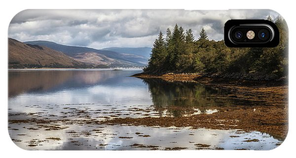 Beautiful Scotland iPhone Case - Loch Eil Reflections No 2 by Chris Fletcher