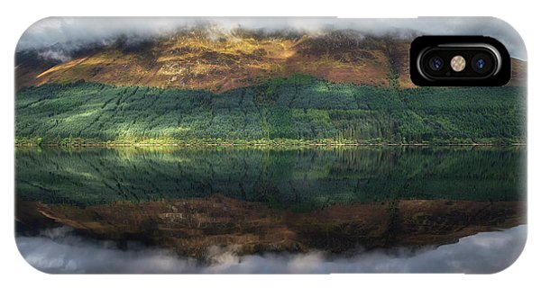 Beautiful Scotland iPhone Case - Loch Lochy Reflection No 1 by Chris Fletcher