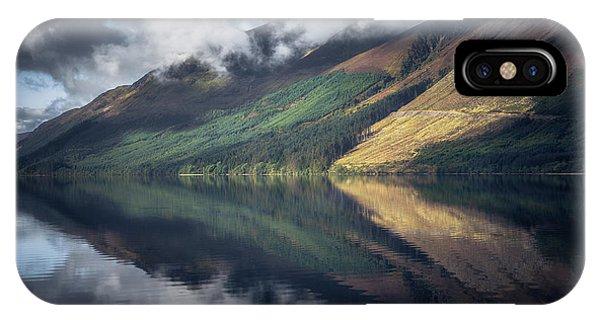 Beautiful Scotland iPhone Case - Loch Lochy Reflection No 2 by Chris Fletcher