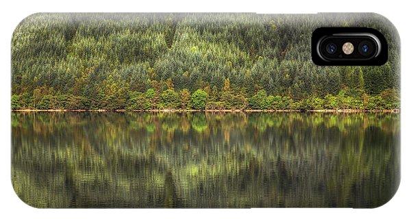 Beautiful Scotland iPhone Case - Loch Lochy Reflection No 3 by Chris Fletcher