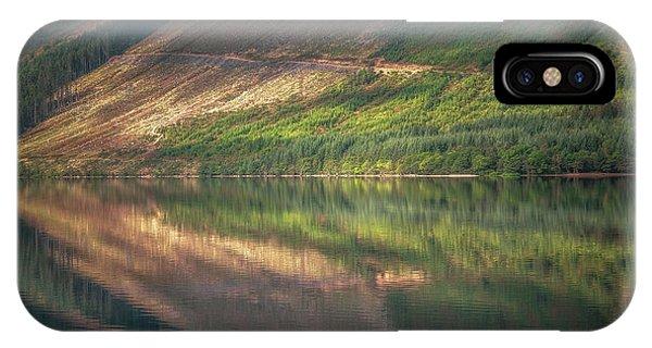 Beautiful Scotland iPhone Case - Loch Lochy Reflection No 4 by Chris Fletcher