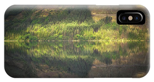 Beautiful Scotland iPhone Case - Loch Lochy Reflection No 5 by Chris Fletcher