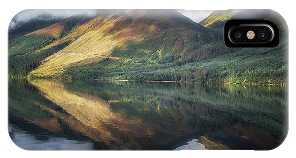 Beautiful Scotland iPhone Case - Loch Lochy Reflection No 7 by Chris Fletcher