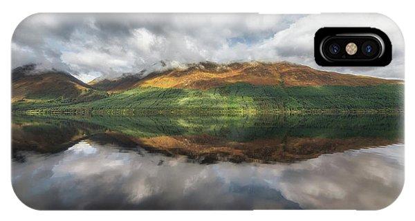 Beautiful Scotland iPhone Case - Loch Lochy Reflections No 10 by Chris Fletcher