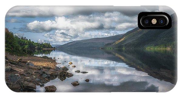Beautiful Scotland iPhone Case - Loch Lochy Reflections No 13 by Chris Fletcher