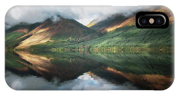 Beautiful Scotland iPhone Case - Loch Lochy Reflections No 9 by Chris Fletcher