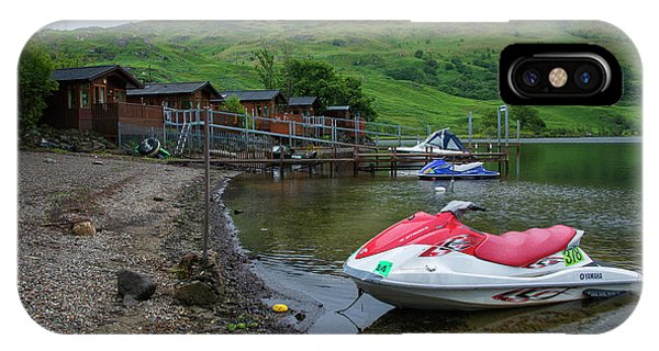Jet Ski iPhone Case - Loch Ski  by Rob Hawkins