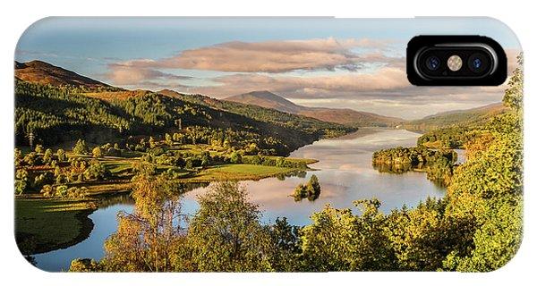 Loch Tummel Sunrise, Queen's View Phone Case by David Ross