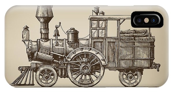 Small iPhone Case - Locomotive. Vector Format by Ava Bitter