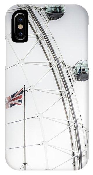 London Eye And Union Jack IPhone Case