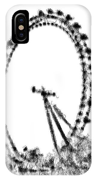 IPhone Case featuring the digital art London Eye by ISAW Company