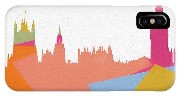 Traveler iPhone Case - London Pop Art Skyline by Dan Sproul