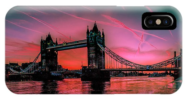 London Tower Bridge Sunrise Pano IPhone Case