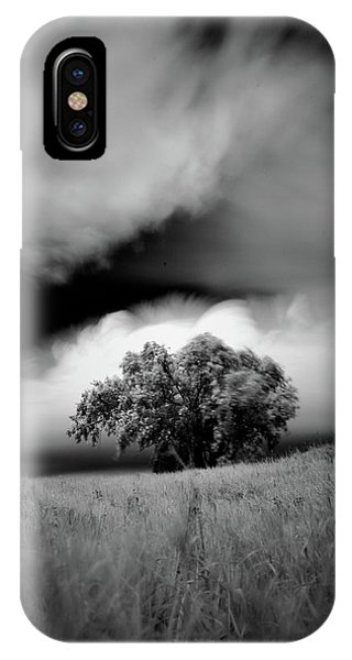 Lone Tree On A Hill IPhone Case
