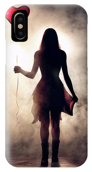 Smoke Fantasy iPhone Case - Lonely Heart by Johan Swanepoel